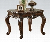 """Remington Collection 80065 30"""" End Table with Cabriole Legs Rectangle Shape and Carved Apron in Brown Cherry"""