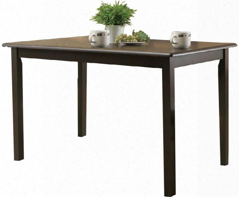 """Serra Ii Collection 00860 47"""" Dining Table With Waterfall Profile Smooth Top Medium-density Fiberboard (mdf) And Okume Veneer Materials In Cappuccino"""