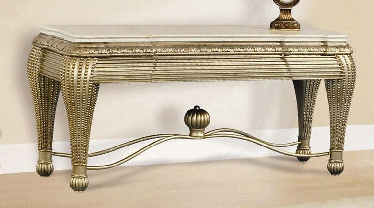 """Ve4321ct Vedette 31""""-height Console Table In Dark Cherry"""