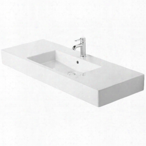03291200301 Furniture Washbasin 49 1/4 Vero White With Overflow 3 Tap