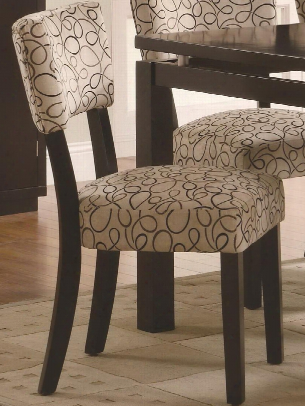 103162 Libby Upholstered Dining Side Chair With Wood Veneers And Solids In Cappuccino