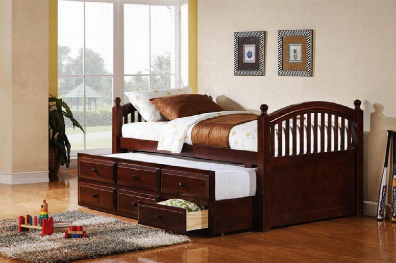 400381t Captain's Bed In Cappuccino By Coaster