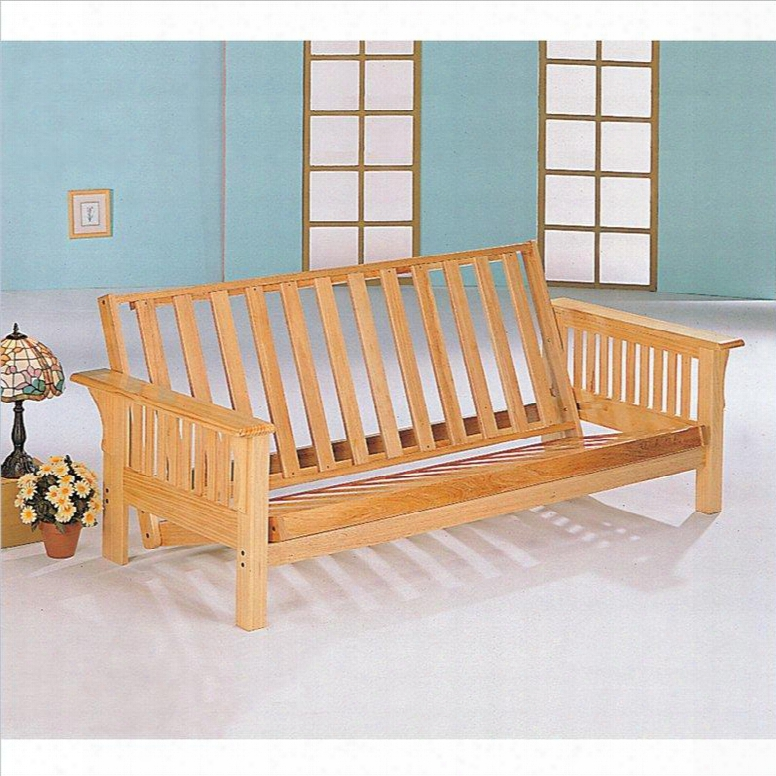 4838 Full Size Futon Frame In Natural