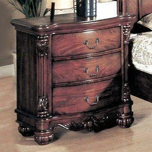 5293n Savannah 3 Drawer Nightstand In Dark Cherry