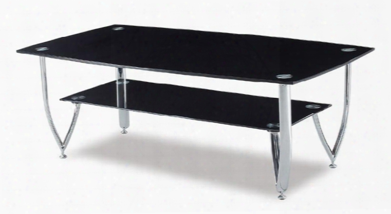 A091c Glass Top Coffee Table With Glass