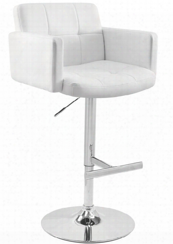 Bs-tw-stout W Stout Height Adjustable Contemporary Barstool With Swivel In