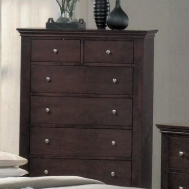 Mn4030ch Montgomery 6 Drawer Chest In Cappuccino