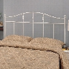 300183QF Full/Queen Cottage White Metal Headboard by Coaster