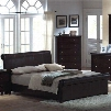 MN4021K Montgomery King Padded Leather Sleigh Bed in a Cappuccino