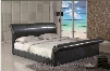 MN4023K Montgomery King Bicast Sleigh Platform Bed in a Chocolate