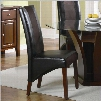 "Rodeo 102242 41"" Vinyl Upholstered Dining Side Chair with Distressed Detailing Stitched Detailing and Tapered Legs in Cherry and"