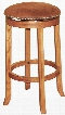 """Sedona Collection 1783RO 30"""" Swivel Barstool with Swivel Cushioned Seat Button Accents and Stretchers in Rustic Oak"""