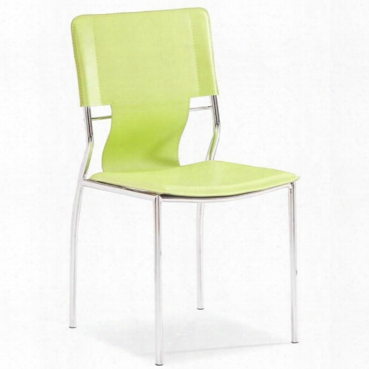 """404134 Trafico 33"""" Dining Chair With Chromed Steel Tube Frame And Leatherette Sling In"""