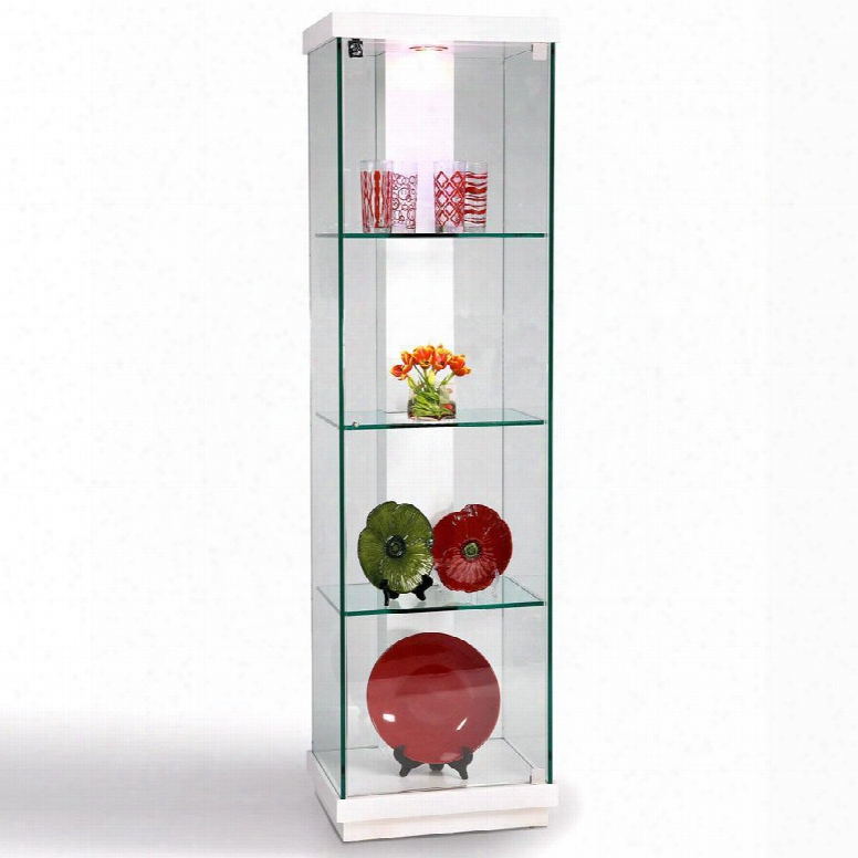 6633-cur White Gloss Accent Glass