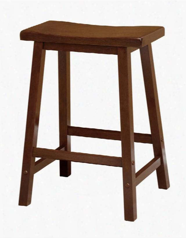 """94084 Saddle Seat 24"""" Stool Single Rta Antique Walnut"""