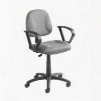 "B317-gy 35"" Deluxe Posture Chair With Loop Arms Thick Padded Seat And Back Watrrfall Seat Adjustable Back Depth Seat Height Adjustment And 5 Star Nylon"