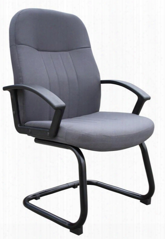 """B8309-gy 41"""" Mid Back Fabric Guest Chair With Passive Ergonomic Seating In"""