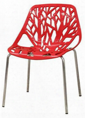 Dc-451-red Birch Sapling Plastic Accent / Dinng Chair In