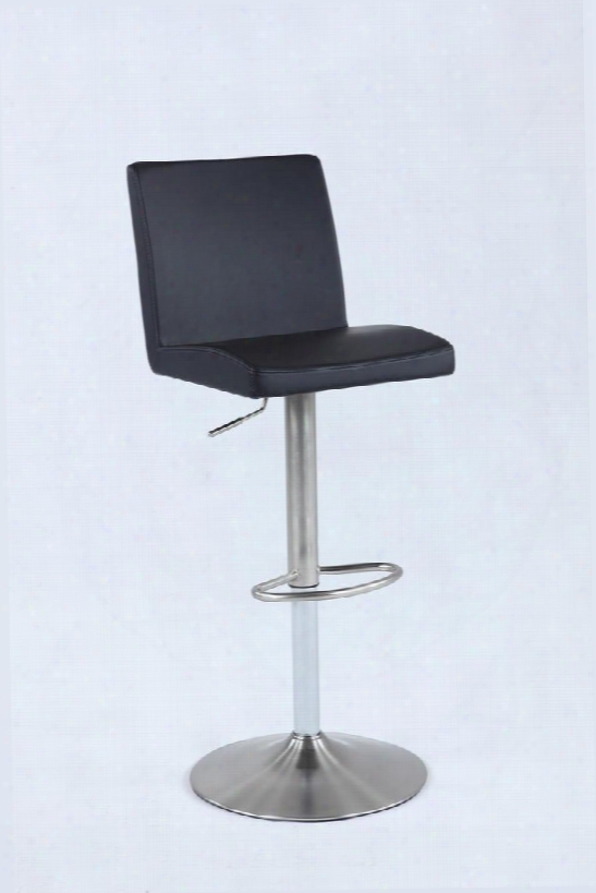 0162-as-blk Pneumatic Swivel Low Back Stool In