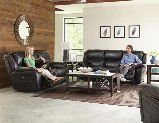 Beckett Collection 4511-1152-08/1252-08/1223-09set 3 Pc Living Room Set With Reclining Sofa + Loveseat + Recliner In Black