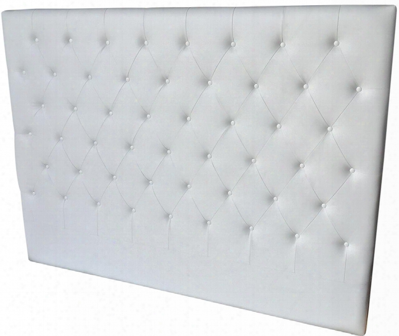 Cozy Collection Cb-a017hb-kw King Size Bed Headboard With Button Tufting Medium-density Fiberboard (mdf) And Eco-leather Upholstery In White