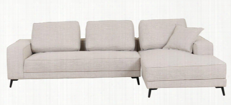 "Ln-306-bg 113"" 2-piece Sectiomal Sofa With High Quality Fabric Seating And Extra Thick Cushioning In"