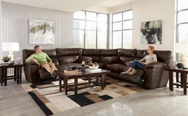 Milan Collection 64341-1283-18/3083-18/1283-09secp 2 Pc Sectional Set With Power Lay Flat Reclining Sofa + Loveseat + Wedge In Smoke