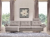 "Divani Casa Payne Collection VGMB-1720-GRY 120"" 2-Piece Fabric Sectional Sofa with Left Arm Facing Chaise and Right Arm Facing Sofa in"