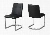 "I 1083 Set of (2) 34"" Dining Chair with Leather-Look Upholstery and U-Shaped Chrome Metal Base in"