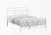I 2637Q Queen Bed with Metal Tube Frame and Slats in White - Frame