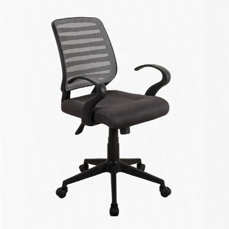 Rta-2920-gry Comfy Rolling Mesh Task Chair W Arms And