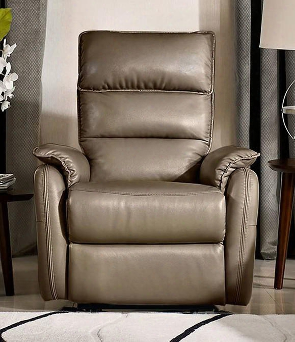 "Walsh Walshrchcf 32"" X 37"" Manual Reclining Accent Chair With L&p Mechanism And Waterfall Back Design In Coffee Air"