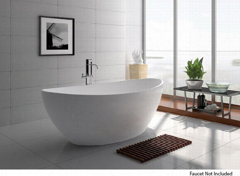 "Wj8643-w 63"" Bath Tub With Build In Overflow Drainer And 72 Gallon Capacity In Matte"