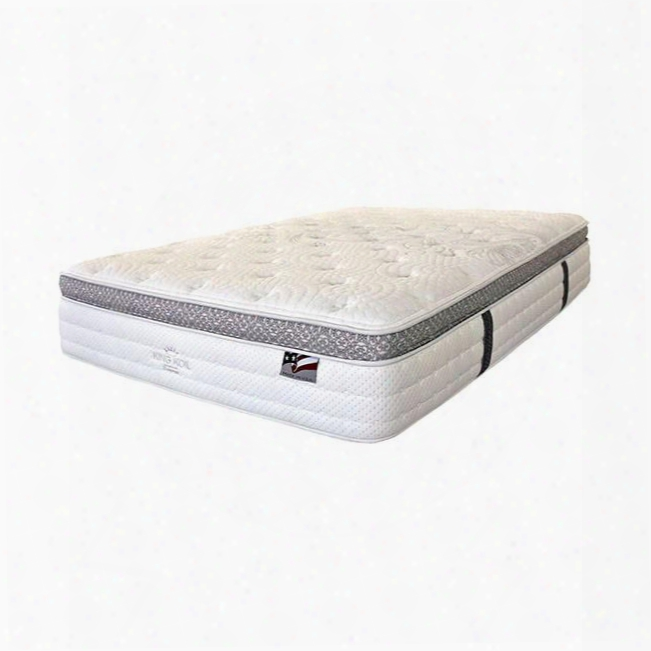 """Alyssum I Dm155q-m 14"""" Euro Pillow Top Mattress - Queen With Quilting: Large Graphic Center Medallion White Stretch Knit Safety: Cfr Part 1633 Flammability"""