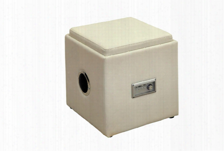 Armoni Cm-ac210wh Ottoman With Contemporary Style Storage Compartment Leatherette Completely Wireless In