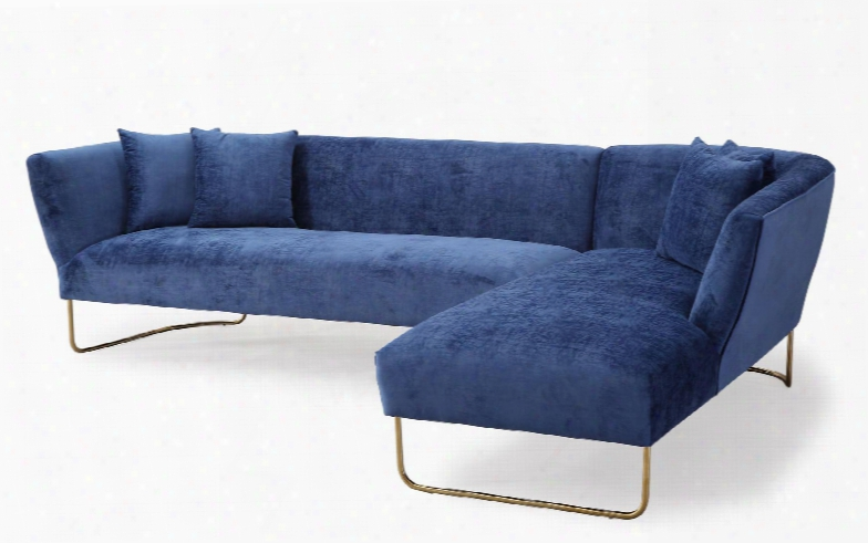 Caprice Collection Tov-l6101 2-piece Sectionalw Ith Right Arm Facing Chaise And Left Arm Facing Sofa In Navy