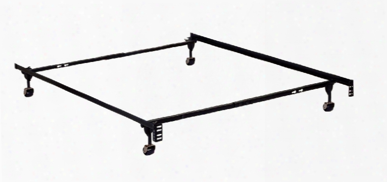 Framos Mt-fram-tf Twin/full Adjustable Frame (4 Legs) With 4 Casters + 1 Extra Leg Solid Rivet Construction Made With High Carbon Rail Steel Fast And Easy