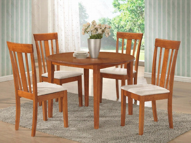 G0032t50c 5 Pc Dining Room Set With Dining Table + 4 Side Chairs In Maple