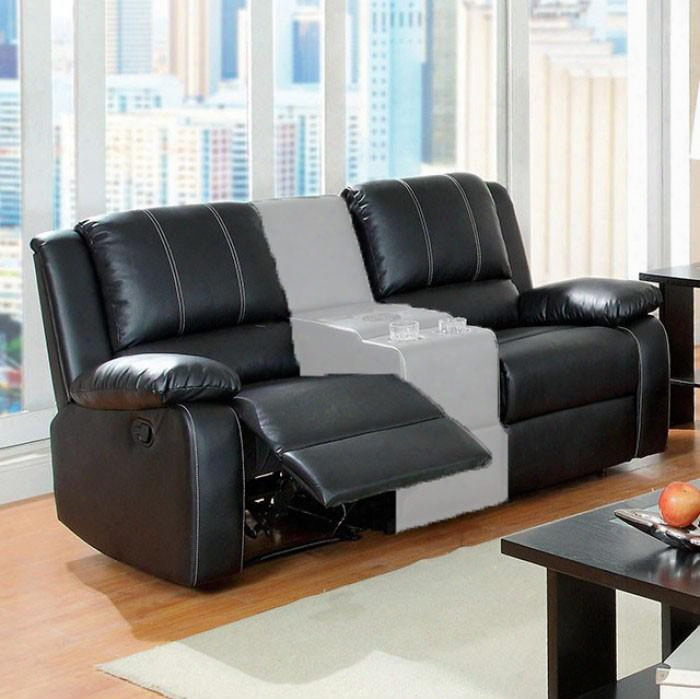 """Gaffey Collection Cm6826lv-set 57"""" Reclining Loveseat With 2 Recliners Pillow Top Arm Stitched Detailing And Bonded Leather Match In"""