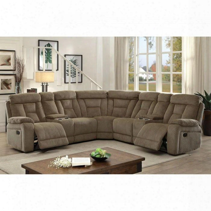 """Maybell Collection Cm6773mc-sectional 112"""" 3-piece Reclining Sectional With Left Arm Facing Console Loveseat Corner Wedge And Right Arm Facing Console"""