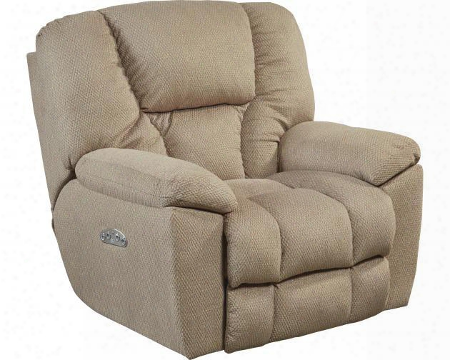 """Owens Collection 764761-7 2779-56 43"""" Lay Flat Recliner With Power Lumbar Headrest Control Panel Technology Comfort Coil Seating And Soft Polyester Fabric"""
