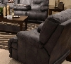 "Voyager Collection 64380-7 1228-53/3028-53 42"" Power Lay Flat Recliner with Sewn Tufted Back Comfort Coil Standard Cushion and Polyester Faux Leather Fabric"