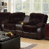 """Winchester Collection CM6556CP-L-CT 73"""" Reclining Love Seat with 2 Recliners Storage Console Plush Cushions and Champion Fabric & Leatherette Upholstery in"""