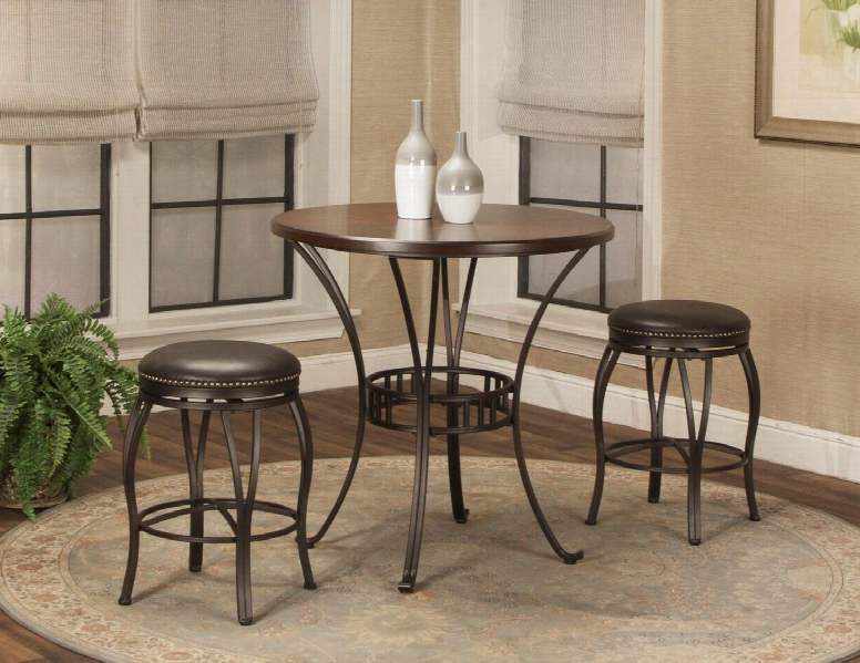 Victoria Collection Cr-j3005-42-3pc 3 Pc Bar Table Set With Pub Table + 2 Bar