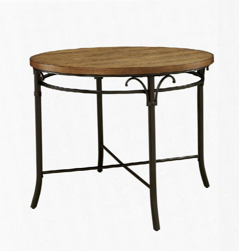 """Crosby Ii Collection Cm3827rpt-table 45"""" Round Counter Height Table With Metal Base Wooden Table Top And Stretchers In Natural"""