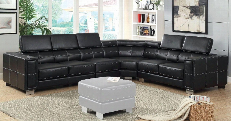 """Garzon Collection Cm6719-set 135"""" 4-piece Sectional With Left Arm Facing Loveseat Armless Chair Cornerr Seat And Right Arm Facing Loveseat In"""