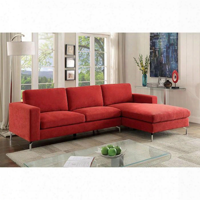 "Kallie Ii Collection Cm6849-sectional 110"" 2-piece Sectional With Left Arm Facing Sofa And Right Arm Facing Chaise In"