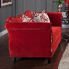 "Zaffiro Collection SM2232-LV 72"" Loveseat with Sweetheart Style Back Nailhead Trim and Tapered Legs in Ruby"