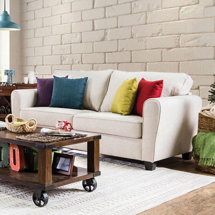 Lounge Room Design In Refined Transitional Style: Megan Collection Hc9024a2 Queen Size Upholstered Platform