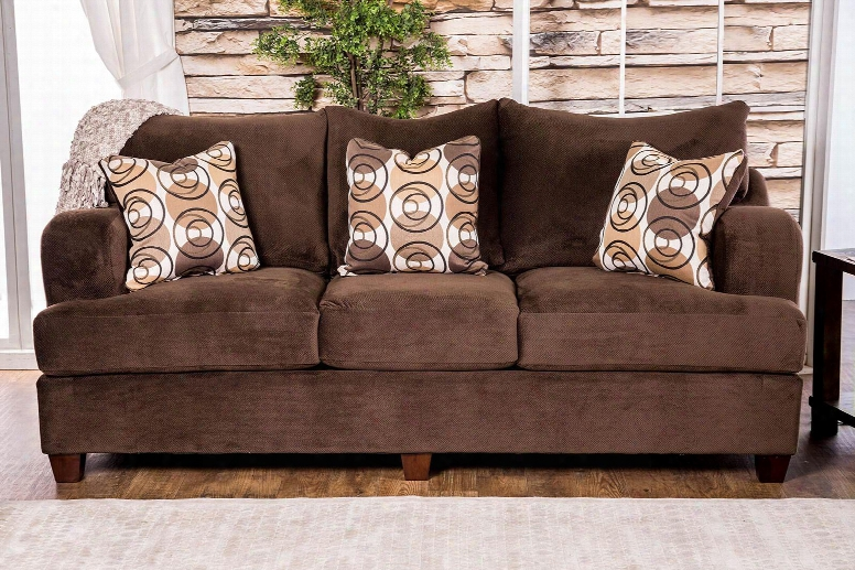 """Wessington Collection Sm6131-sf 98"""" Sofa With M Odern English-arm Style Tapered Legs An D Fitted Back Pillows In"""